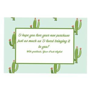 20 4x6 Cactus design thank you cards